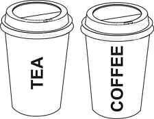 MOBILE CATERING VAN TEA & COFFEE DECALS STICKERS NO2 CHUCK WAGON