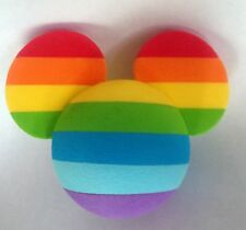 Rainbow Mickey Mouse Ears Icon Car Antenna Topper Disney World Theme Parks NEW