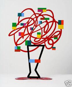 David Gerstein Art Red Bouquet Metal Modern Sculpture