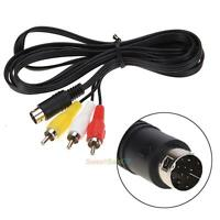 1.8m Audio Video AV Wire Cable 9Pin to 3RCA Connection Cord for Sega Genesis 2 3