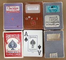 5 Decks Poker 52 Playing Cards Bicycle Aristocrat Bee Gemaco Harrahs Used Lot