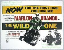 80's Vintage ☆ THE WILD ONE Marlon Brando Triumph Thunderbird Lobby Card Poster