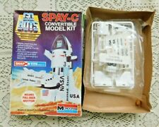 VINTAGE 1984 GO BOTS SPAY - C CONVERTIBLE MODEL KIT W PULL BACK MOTOR MONOGRAM