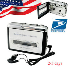 USB Cassette Tape to MP3 iPod CD Converter Capture Audio Music Player + Software
