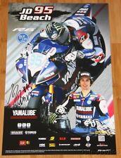 2015 JD Beach signed Graves Yamaha YZF-R6 Supersport MotoAmerica poster