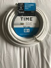 4 Core Round Flex Cable 1 mm 5 Metres Brand New