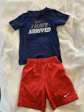 Nike Kids Boys Unisex Sport Athletic Set 6-7y Mesh Shorts and T-Shirt