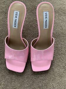 Steve Madden Patent Pink Heels Brand New Size 7/37
