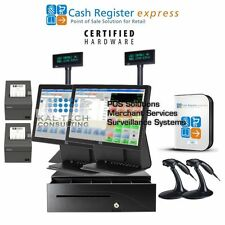 2 Station ELO Point of Sale System Retail/Liquor Store POS Complete CRE NEW Pole