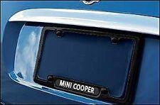 mini cooper genuine factory oem 82120147349 black slim line license plate frame - Mini Cooper License Plate Frame