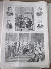 Vintage Print,PARLIAMENT+QUEEN VICTORIA,Feb28,1876,Centennial Daily Graphic