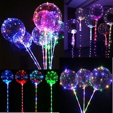 Children LED Bubble Helium Balloons Lights Birthday Wedding Party Decor Kids Fun