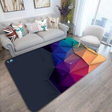 3D Cube Triangle Line 9 Non Slip Rug Mat Room Mat Quality Elegant Photo Carpet