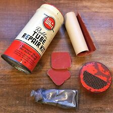 WHIZ Rubber TUBE REPAIR KIT TIN No 18 w/ Vintage Contents R.M. Hollingshead Corp