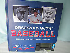 Chronicle Books Obsessed with Baseball Book Game Electronic Quiz Test Knowledge