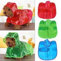 Pet Rain Coat Raincoat Waterproof Outdoor Jacket Dog Puppy Clothes Transparent