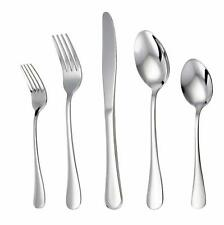 Stainless Steel Silverware Set Knives/Forks/Spoons Dishwasher-Safe 20-Piece
