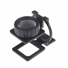 20X Foldable Magnifier Stand Measure Scale Loupe Magnifying Glass Portable LW