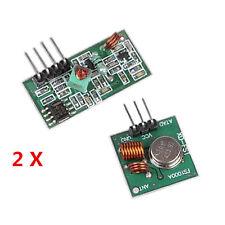 2x RF 433Mhz Transmitter Sender and Receiver Module Kit for Arduino Raspberry Pi