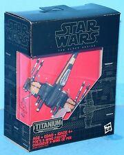 Star Wars The Force Awakens BLACK SERIES TITANIUM #12 POE'S X-WING FIGHTER