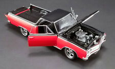 1965 CHEVROLET EL CAMINO NOT YOUR MOTHER'S RED & BLACK 1:18 CAR ACME A1805410