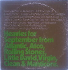 Scarce Heavies for September from Atlantic, ATCO, Rolling Stones, Little David