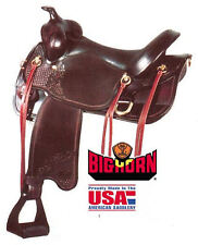 Big Horn 17 Inch Gaited Horse Western Saddle with Dual Density Foam Seat