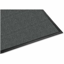 Genuine Joe Indoor/Outdoor Mat, Rubber Cleated Backing, 3'x5', Charcoal 59473