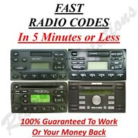 Ford Radio Unlock Code M & V Serial - Fiesta - Focus - Mondeo - Transit - Escort
