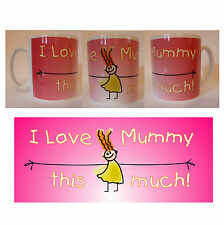 I Love Mummy This Much Mother's Day Mug Cup Gift Present Mothers Mum Mom Mommy