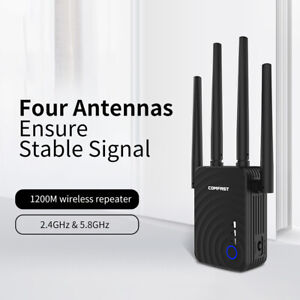 COMFAST WiFi Repeater Wireless Dual-band 1200Mbps Router AP Mode WiFi M9D6