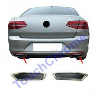 2014Up VW Passat B8 Saloon Chrome Exhaust Deflector Frame 2pcs Stainless Steel