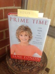 JANE FONDA SIGNED BRAND NEW BOOK PRIME TIME.
