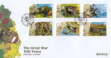 (43010) GB Jersey FDC Great War 2015