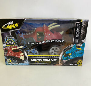 Kid Galaxy Dino Triceratops 2.4 Ghz Morphibian RC Remote Controlled - BRAND NEW