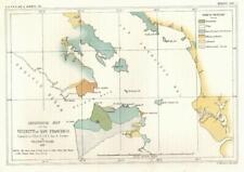 San Francisco bay California 1853 US Pacific Railroad geological survey map