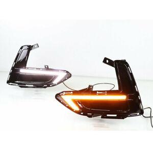 Fit For Nissan Sentra 2020 2021 LED Daytime Running Light Turn Signal Fog Lamp