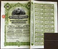 The Russian Tobacco Company. 25 shares=£25 bond dated 1915