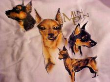 Hanes - Min Pin Miniature Pinscher Hand Painted Sweatshirt New 3Xl White w/ Dog