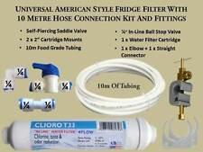 Universal style américain réfrigérateur filtre + 10 mètre tuyau connexion kit & accessoires