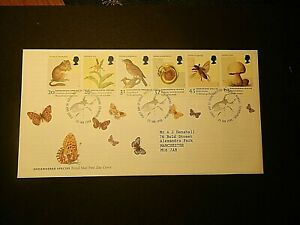 GB 1998 FIRST DAY COVER SG2015-20 ENDANGERED SPECIES