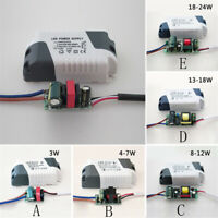 LED Driver 3W-24W Dimmable Ceilling Light Lamp Trans Former AC90~265V Input