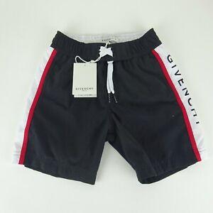 Givenchy Paris Childrens Logo Black Drawstring Swim Shorts Size 5 NEW NWT