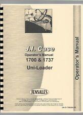 Case 1700 1737 Uniloader Operators Owners Manual