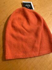 Nwt Women's  Hat 100% Cashmere Orange #23
