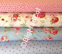 Ikea Cath Kidston Rosali Floral Dots Fabric Material Shabby Chic HALF METRE