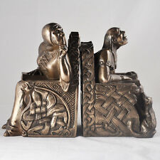 Medieval Bookends Bronze Antique Style Heavy Design Clinic Funny Art H17cm 16020