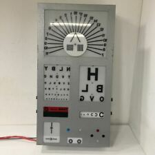 Vintage Optometrists Light Up Eye Chart Testing Display - Industrial Lightbox