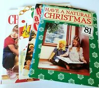 4 Vintage Natural Christmas Magazines 1981, 82, 83, 85 Crafts For Kids Adults