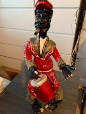 More details for art vintage handmade wooden figure high -fast shipping free p&p